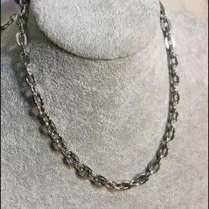 Tarina Tarantino Silver tone toggle chain necklace